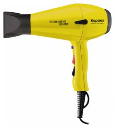 KAPOUS Фен профессиональный Kapous Tornado 2500, желтый
