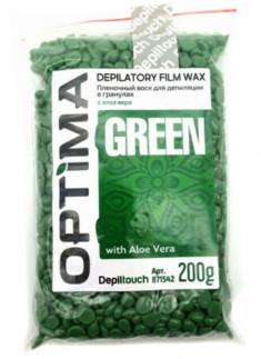 DEPILTOUCH PROFESSIONAL Воск пленочный в гранулах, алоэ / OPTIMA GREEN 200 г