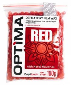 DEPILTOUCH PROFESSIONAL Воск пленочный в гранулах, с маслом нероли / OPTIMA RED 100 г
