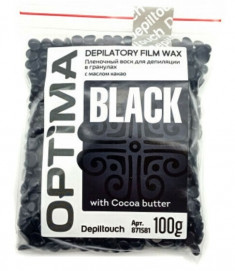 DEPILTOUCH PROFESSIONAL Воск пленочный в гранулах, с маслом какао / OPTIMA BLACK 100 г