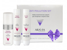 ARAVIA Набор для очищения и защиты кожи (паста 100 мл, маска 100 мл, крем для умывания 150 мл) Anti-Pollution Set