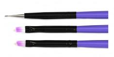 TNL PROFESSIONAL Набор кистей, цвет фиолетовый 3 шт