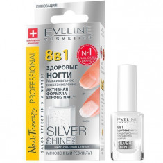 Eveline максимальное восстановление 8 в 1 silver shine nail 12мл.