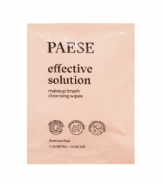 Набор салфеток для очищения кистей PAESE effective solution brush cleanser wipes 10 шт