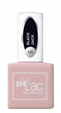 E.MI 221 HP гель-лак для ногтей, Блек Джек / E.MiLac 6 мл