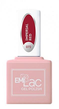 E.MI 072 DV гель-лак для ногтей, Императорский красный / E.MiLac 6 мл