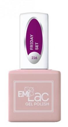 E.MI 216 HP гель-лак для ногтей, Пятничный сет / E.MiLac 6 мл