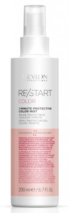REVLON PROFESSIONAL Мист 1-минутный защищающий цвет для волос / RESTART COLOR 1 MINUTE PROTECTIVE COLOR MIST 200 мл