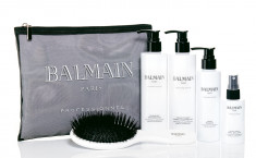 BALMAIN Набор для наращенных волос (шампунь 250 мл, кондиционер 250 мл, маска 150 мл, спрей для блеска волос 75 мл, косметичка) Balmain Hair Beauty Bag