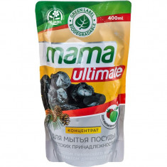 Mama Ultimate Уголь Концентрат для мытья посуды 400мл запасной блок