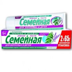 Зубная паста Семейная с экстрактом крапивы и шалфея 130гр. Свобода