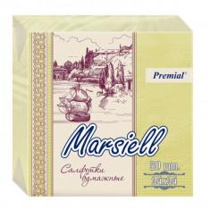 Premial Marsiell Салфетки декоративные двухслойные пастельных тонов 50 шт