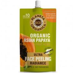 Планета органика ECO пилинг для сияния кожи лица азиатская папайя 100мл Planeta Organica