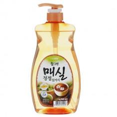 Лион CJ Сhamgreen средство для мытья посуды Японский абрикос (насос-дозатор)1000 мл LION