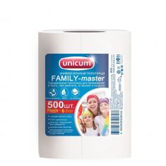 Unicum Полотенца универсальные Family-master 500 шт в рулоне 23*22 см