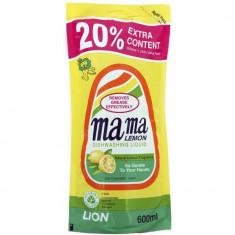 Lion Mama Lemon Natural Lemon Fragrance Лимон Гель для мытья посуды 600мл запасной блок