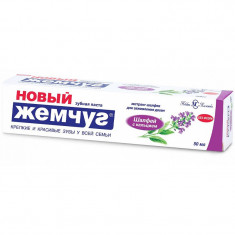 Новый жемчуг Зубная паста Шалфей с кальцием 50мл НОВЫЙ ЖЕМЧУГ