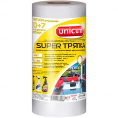 Unicum Супер тряпка белая 70+7шт в рулоне 24*30см
