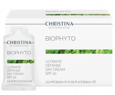 CHRISTINA Крем дневной Абсолютная защита SPF 20, в индивидуальном саше / Bio Phyto-Ultimate Defense Day Cream SPF-20 sachets kit 30*1,5 мл