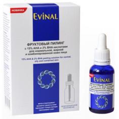 Эвиналь пилинг фруктовый с 15% aha и 2% bha кислотами для нормальной, жирной и комбинированной кожи лица 30мл Evinal