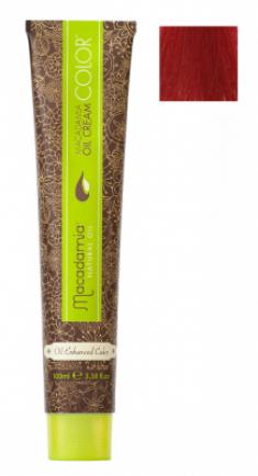 Краска для волос Macadamia Oil Cream Color 6.666 ЭКСТРА-ЯРКИЙ ТЕМНО КРАСНЫЙ БЛОНДИН 100мл
