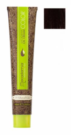 Краска для волос Macadamia Oil Cream Color 4.62 КРАСНО РАДУЖНЫЙ СРЕДНИЙ КАШТАНОВЫЙ 100мл