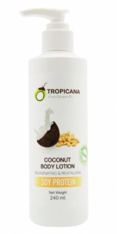 Лосьон для тела СОЕВЫЙ ПРОТЕИН TROPICANA Coconut Body Lotion Soy bean 240мл