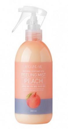 Пилинг-мист для тела с экстрактом персика WELCOS AROUND ME Natural Perfume Vita Peeling Mist Peach 300мл