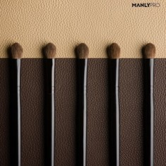 Кисть плоская для теней большая и растушевки деталей румян Manly Pro К62