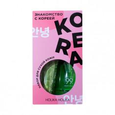 HOLIKA HOLIKA Набор для ухода за сухой кожей лица Знакомство с Кореей (гель 250 мл, пенка 120 мл, тканевая маска 20 мл) Holika Holika