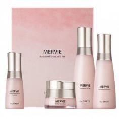 набор средств для лица с пробиотиками the saem mervie actibiome skin care 3 set