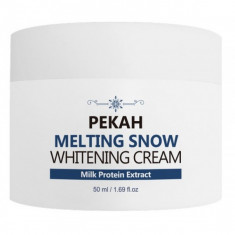 осветляющий крем для лица pekah melting snow whitening cream