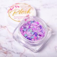 Blesk, Дизайн для ногтей «Романтический микс», фиолетовый