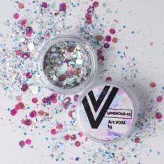 Vogue Nails, Блестки для ногтей Luminous №2