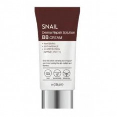 вв крем с муцином улитки dr.cellio  snail derma repair solution b.b cream