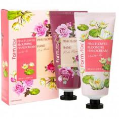 набор кремов для рук farmstay pink flower blooming hand cream 2 set